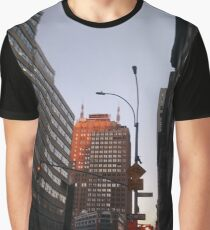 #city, #skyscraper, #street, #architecture, #road, #cityscape, #tower, #sky Graphic T-Shirt