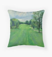 Fairway To The 11th Hole Throw Pillow