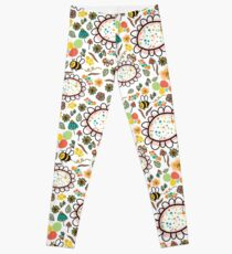 Bees and Flowers Leggings