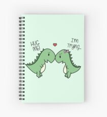 Dino Love! (Hug Me!) Spiral Notebook