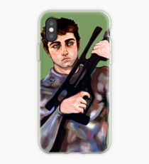 Sci Fi Army Soldier With a Big Gun iPhone Case