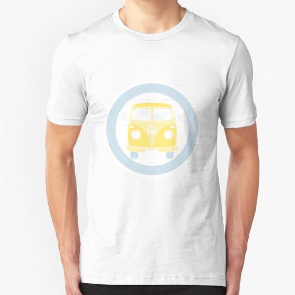 Camper bus in retro colors Slim Fit T-Shirt