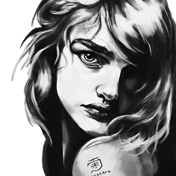 Black and White Glamour Portrait by kikoeart