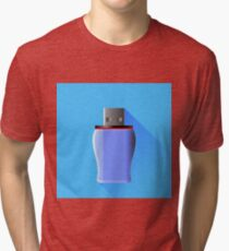 Memory Stick Isolated Tri-blend T-Shirt