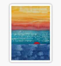 A New Day Dawns original painting Sticker
