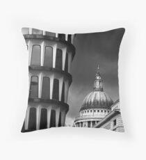 London Juxtaposition BW Throw Pillow