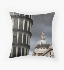 London Juxtaposition Throw Pillow