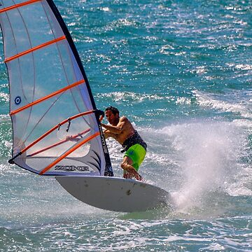 Israel, Tel Aviv, Windsurfing in the Mediterranean sea by PhotoStock-Isra