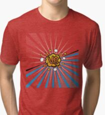 Colorful versus background with comic style - VS Tri-blend T-Shirt