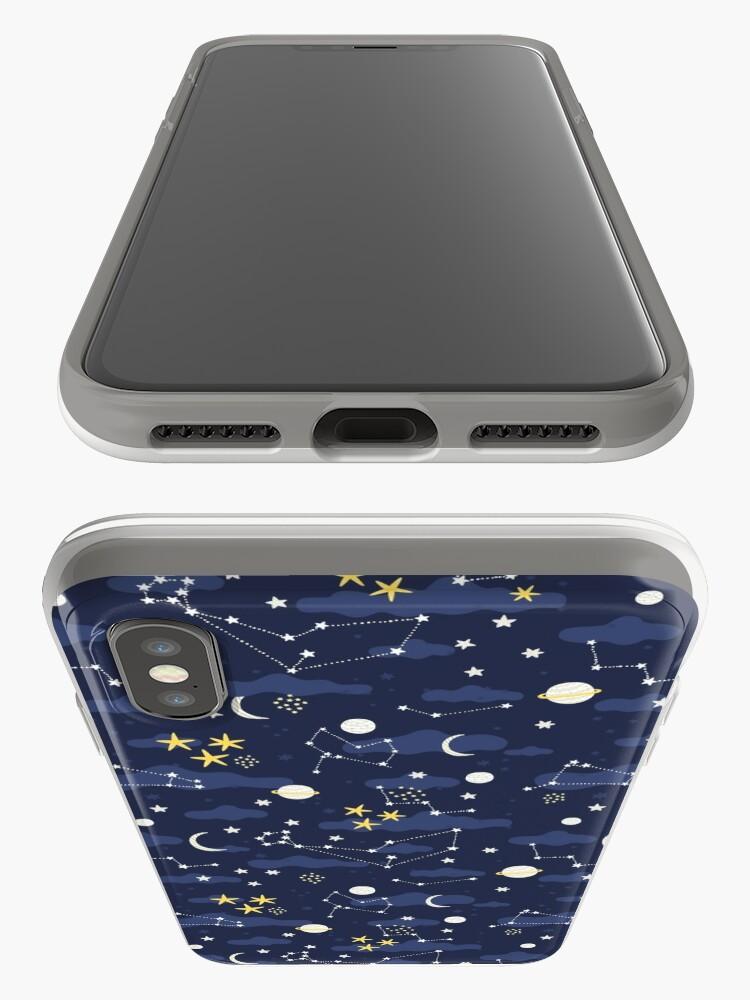 Alternative Ansicht von Kosmos, Mond und Sterne. Astronomie-Muster iPhone-Hülle & Cover