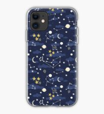 cosmos, moon and stars. Astronomy pattern iPhone Case