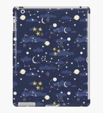 Vinilo o funda para iPad Cosmos, luna y estrellas. Patrón astronomico