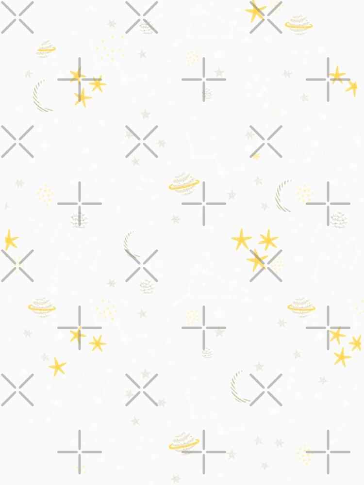 Kosmos, Mond und Sterne. Astronomie-Muster von kostolom3000