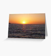 Santorini Sunset #3 Greeting Card