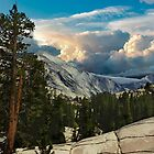 Distant view Of Half Dome by Nancy Richard