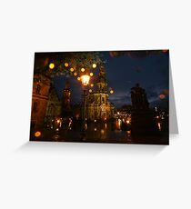 Fresh summer evening in an European city Greeting Card