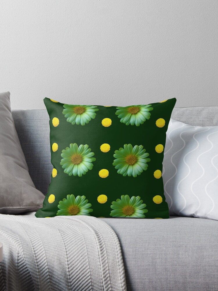 Yellow And Green Flowers Design by hurmerinta