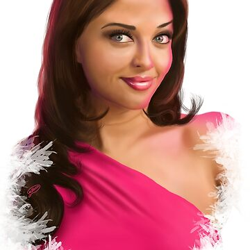 Aishwarya Rai Digital Painting Portrait by KarimStudio