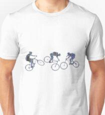 Mountian Biker Trio - Word-Art-Design-Druck Slim Fit T-Shirt