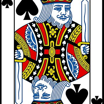 King of Spades Playing Card by BankrobberGus