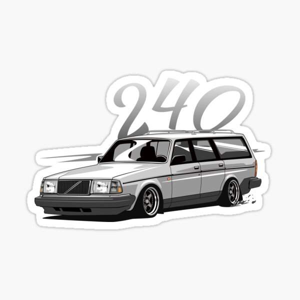 Lowered SEDAN MAFIA car sticker for Volvo 740 turbo Sedan