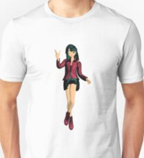 zwinkerndes Manga Mädchen  Slim Fit T-Shirt