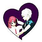 verliebtes Manga Paar von Stefanie Keller