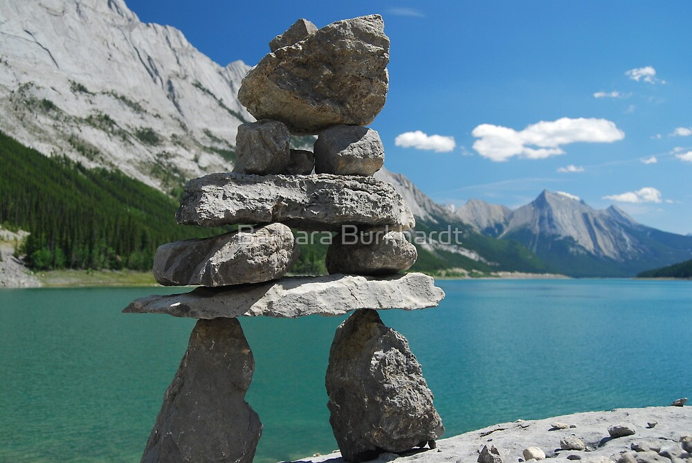 Inukshuk of Medicine Lake ~ Alberta by Barbara Burkhardt