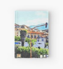 View of the village of Scalea with traffic lights Hardcover Journal