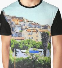View of the village of Scalea with traffic lights Graphic T-Shirt