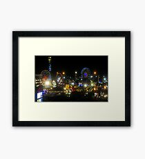 Florida State Fair Lights Framed Print