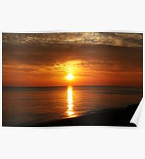 Sunset in Dungeness Poster