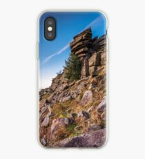 Contrails Over Stanage Edge iPhone Case