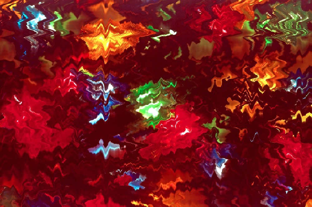 Tangled Christmas Lights Abstract (2) by SteveOhlsen