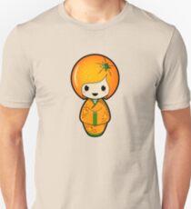 Orange Kokeshi Doll Unisex T-Shirt