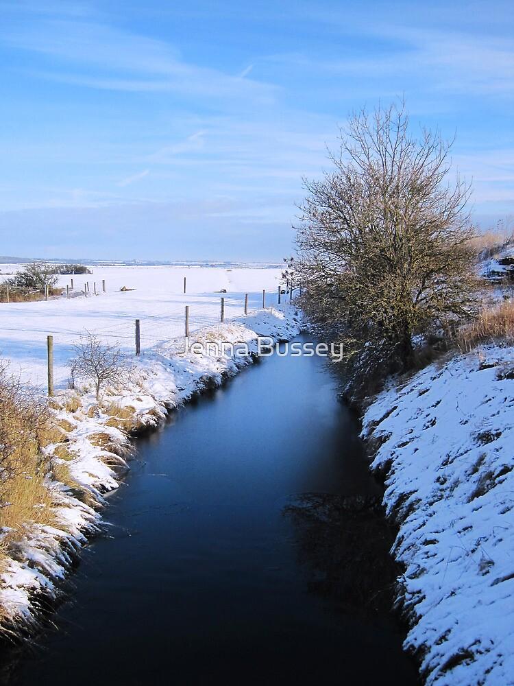 Winter river scene by Jenna Bussey