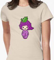 Grape Kokeshi Doll Women's Fitted T-Shirt