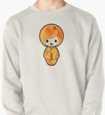 Peach Kokeshi Doll Pullover