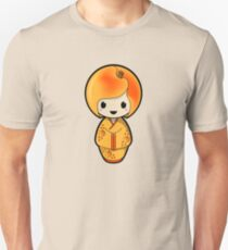 Peach Kokeshi Doll Unisex T-Shirt