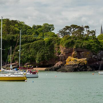 Yellow Sailboat in Waterford Ireland Harbor by DARRINSWORK