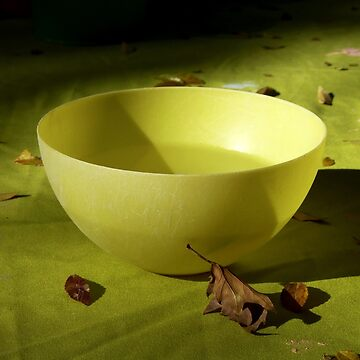 The Yellow Bowl On Green Cloth by GVAZDesigns