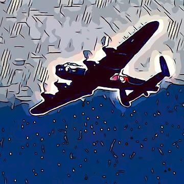 Avro Lancaster nightflight [comics edition] by Escarpatte