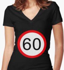60 Something! Women's Fitted V-Neck T-Shirt