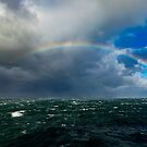 Full Rainbow In Rough Seas by DARRIN ALDRIDGE