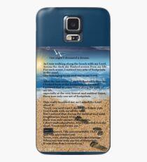 Fußabdrücke im Sand Hülle & Skin für Samsung Galaxy
