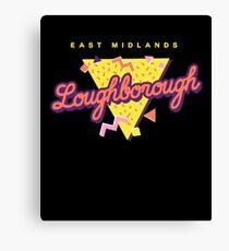 Retro 90s Pop 'Loughborough' Vintage East Midlands Canvas Print