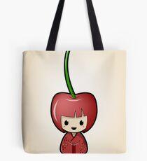 Cherry Kokeshi Doll Tote Bag