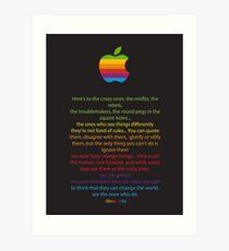 Apple/ Steve Jobs The Crazy Ones  Art Print