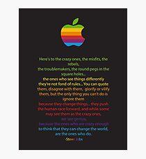 Apple/ Steve Jobs The Crazy Ones  Photographic Print
