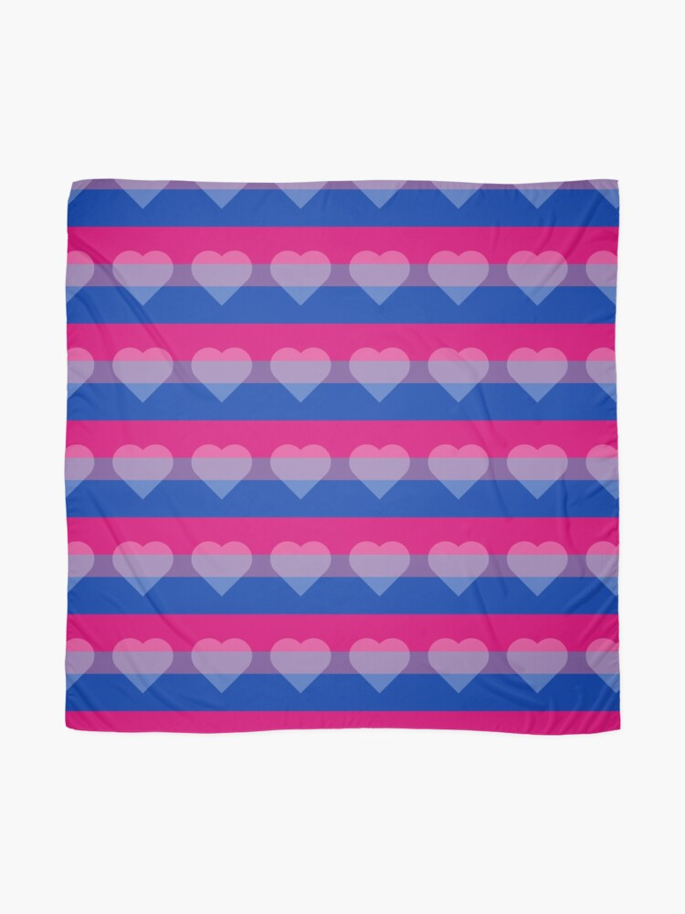 Alternate view of Bisexual Flag + Transparent Heart Scarf